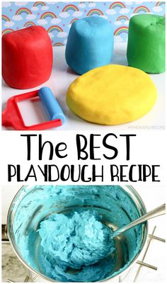 The Best Playdough Recipe- kids activity to make at home. Cream of tartar playdough recipe. Kids Cooking Recipes, Cooking With Kids, Kids Meals, Fun Ideas, Creative Ideas, Craft Ideas, Cream Of Tartar Playdough, Summer Activities, Preschool Activities