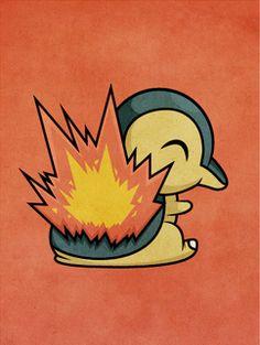 Pokemon - Cyndaquil by ~beyx on deviantart