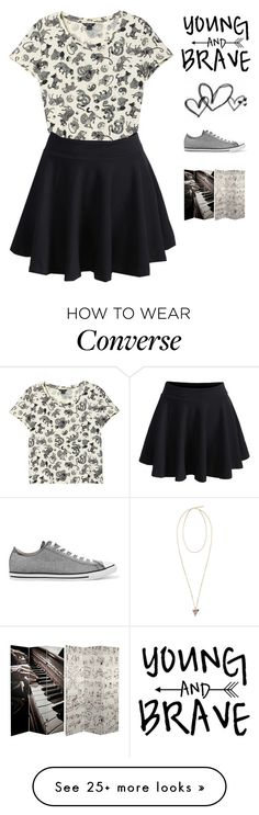 """Music Is My-Our Passion -Imagine-"" by mel2016 on Polyvore featuring Monki, WithChic, Givenchy, Converse, polyvoreeditorial, polyvorefashion and imaginemel"