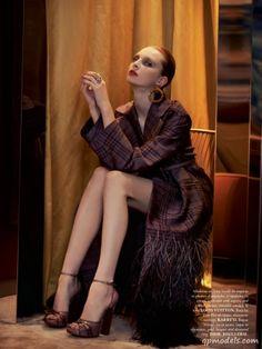 Dasha Goldina for Madame Air France (January 2014) - http://qpmodels.com/european-models/dasha-goldina/5105-dasha-goldina-for-madame-air-france-january-2014.html