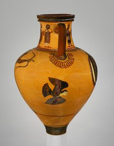 Neck-amphora, Archaic, ca. 540–530 b.c.; black-figure  Attributed to a painter of the Princeton Group  Greek, Attic  Terracotta
