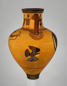 Etruscan painted neck-amphora ca.600BCE