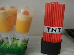 TNT straw idea//Minecraft Party Printables. $4.00, via Etsy.
