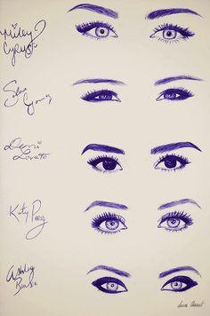 ojos famosas
