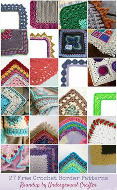 Roundup: 27 Free Crochet Border Patterns via Underground Crafter   Borders can pull a motif blanket pattern together and add the finishing touches that make a pattern really wow. In today's Granny Square Month post, I'm sharing twenty-seven free crochet border patterns for your next granny square (or hexagon) blanket! #crochet #undergroundcrafter #freecrochetpatterns #grannysquaremonth