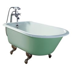 Bella Casa Cast Iron Classic Roll Top Clawfoot Bathtub - No Drillings
