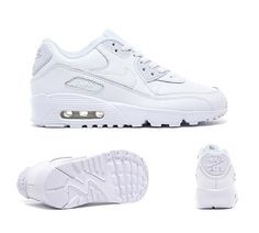 4a219ce208 Nike Junior Air Max 90 Leather Trainer | White | Footasylum Nike Air Max  90s,