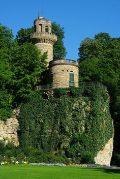 Rapunzel's Tower in the Fairytale Gardens, Ludwigsburg, Germany