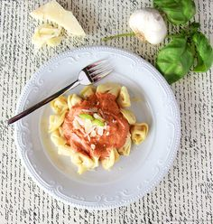 Roasted Tomato Cream Sauce with Tortellini by www.cookingwithruthie.com is the BEST sauce in the world!