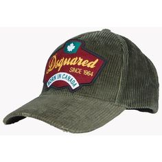 Dsquared2 Hat ($81) ❤ liked on Polyvore featuring men's fashion, men's accessories, men's hats, green and mens visor hats