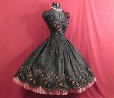 Vintage 1950's 50s STRAPLESS Bombshell Black от VintageVortex