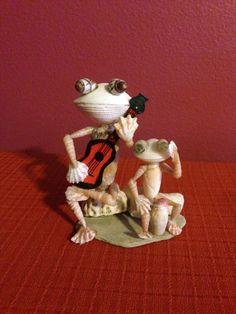 Seashell Musician Frogs by BCSeaShells on Etsy