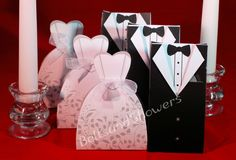Bride and Groom Wedding Favor Boxes by Bellsandshowers on Etsy