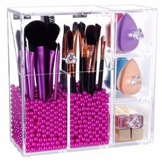 5mm Thick Makeup Acrylic Organizer Cosmetic Storage More