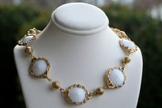 Choker Necklace  Vintage White Gold Link by KrissyKatVINTAGE, $21.85