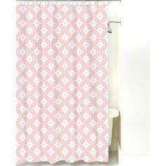 NECR Print Kaleidoscope Cotton Shower Curtain Color: Pink