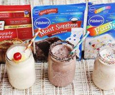 DIY Cakebatter Milkshakes