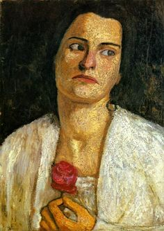 Paula Modersohn-Becker was a German expressionist painter. Raised primarily in Bremen, she made several trips to Paris to study art. She's noted for creating the first female nude self-portrait. This is Clara Rilke-Westhoff Paula Modersohn Becker, Ludwig Meidner, George Grosz, Female Painters, Art Japonais, Edwardian Fashion, Art Plastique, Figure Painting, Art Reproductions