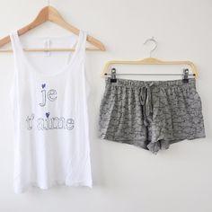 Femmes Rose Imprimer Ensembles de Pyjama Lâche Marque Ensembles de Pyjama Femmes Coton Pyjamas Pyjamas Tops + Shorts Homewears S M