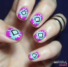Wondrously Polished: Southwest Inspired Mani Monday Tutorial for Lulu*s!