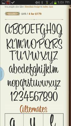 """Modelo para letra """"casual"""" de Rotulismo (Sign Painting). Puede servir como modelo para caligrafía con """"pointed brush"""" o pincel agudo, al menos en la forma y estructura de la letra."""