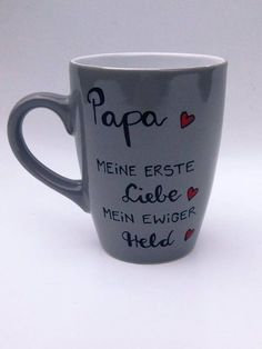 Mugs & Cups – Cup Dad Gift ♥ Hero ♥ Gift for dad – a unique product by Hoch-Die-Tassen on DaWanda Source by lenagalwas Presents For Girls, Diy Gifts For Kids, Gifts For Dad, Desi, Non Toy Gifts, Father's Day Diy, Candy Wrappers, Heart Melting, Business Gifts