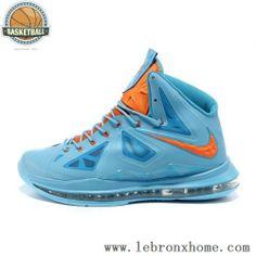 Nike Lebron X 10 2012 Light Blue Navy Yellow Medal