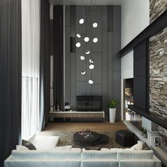living wall grey rooms tile gray interior lounge decorations lovely ceilings double height stone ceiling designs dangling hall ong idea