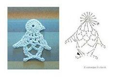 Crochet Applique Penguin Chart Pattern