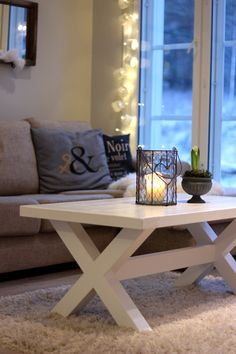 Maalaisromanttinen sohvapöytä. Coffee table. #finishdesign #olohuone #sohvapöytä © AX-Design Oy, Finland Cozy House, Home Living Room, Home Decor Inspiration, Furniture Making, Decoration, Home Goods, Interior Decorating, Sweet Home, House Design