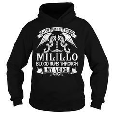 [Top tshirt name list] MILILLO Blood MILILLO Last Name Surname T-Shirt Discount Today Hoodies, Funny Tee Shirts