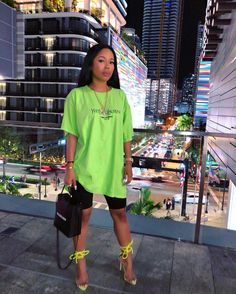 Neon slime insta baddie outfit inspo Source by SaintLaurentScarf baddie outfits Neon Outfits, Chill Outfits, Swag Outfits, Trendy Outfits, Summer Outfits, Night Outfits, Fashion 90s, Black Girl Fashion, Fashion Killa