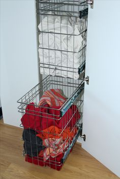TANSEL LAUNDRY STORAGE: Individual Wire Baskets Stackable