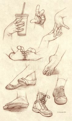 Hands Feet and Shoes by =ArandaDill…