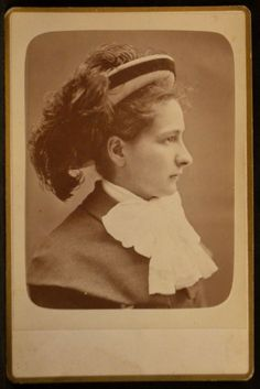 Cabinet photo  Helen Kimball,   Photo by Gagne,  Montreal, Quebec Canada.    June 1880.