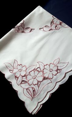 Machine embroidered tablecloth by DoiliesLaceCrafts on Etsy