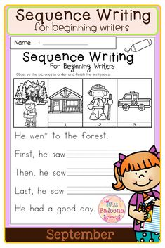 September Sequence Writing contains 30 pages of narrative prompts worksheets. This product is suitable for kindergarten and first grade students. Kindergarten | Kindergarten Worksheets | First Grade | First Grade Worksheets | Fall Sequence Writing Prompts | Sequence Writing Prompts | Writing Prompts Worksheets | Writing Prompts Literacy Centers | Writing Prompts Printables First Grade Worksheets, Kindergarten Worksheets, Literacy Centers, Writing Prompts, Sentences, Writer, September, Students, Names