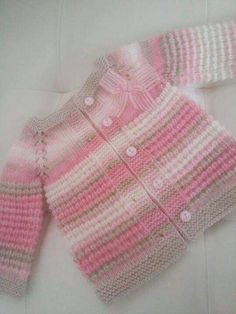 This Pin was discovered by ВикThere is not much information about this baby girl. But if you want, you can do this for your baby by examining the picture. I am so impressed with the Turkish knitters! The beginning of my knitting Baby Knitting Patterns, Baby Cardigan Knitting Pattern, Knitting For Kids, Baby Patterns, Baby Outfits, Kids Outfits, Pull Bebe, Baby Girl Sweaters, Baby Coat