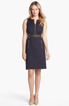 MICHAEL Michael Kors Buckle Waist Dress available at #Nordstrom