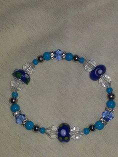 Beautiful combination of beads and lampwork in by MiBellaDama, $15.00