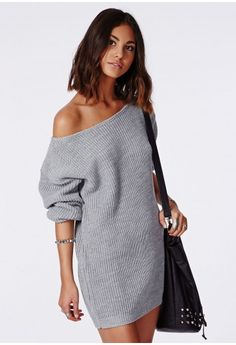 aed66395812b8 Grey Dresses, Sweater Dresses, Grey Sweater Dress, Knit Sweater Dress,  Women s Dresses