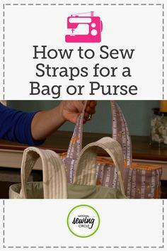 Make any purse or bag easy to grab-and-go by adding stiffness to the straps so they stand up on their own. Ellen March shows you several products that can help you achieve the strap stiffness you want that are also easy to use, either stitched in place or fused right to your fabric.