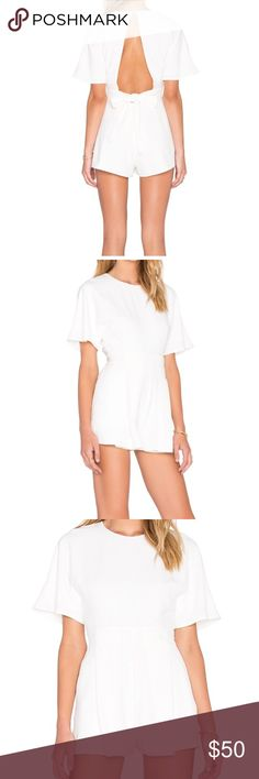 The fifth label white romper Worn once, cocktail romper (the fifth label) Urban Outfitters Dresses Mini
