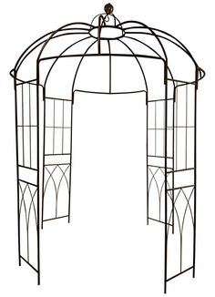 Jen's Selling Corner: OUTOUR® French Style Birdcage Shape Metal Gazebo Pergola Pavilion Arch Arbor Arbour Plants Stand Rack for Outdoor Garden Lawn Backyard Patio, Climbing Vines, Roses, Flowers, Dark Rust Gazebo Pergola, Garden Gazebo, Metal Pergola, Wooden Pergola, Pergola Plans, Backyard Patio, Lawn And Garden, Pergola Ideas, Pergola Shade