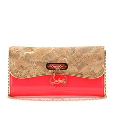 mytheresa.com - Christian Louboutin - LACKLEDER-CLUTCH RIVIERA MIT KORK - Luxury Fashion for Women / Designer clothing, shoes, bags