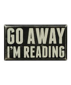 This 'I'm Reading' Wall Sign by Primitives by Kathy is perfect! #zulilyfinds