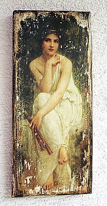 Obrázky - Vintage ženy - doska04 - 5485329_ Painting Words, Fabric Painting, Painting On Wood, Mixed Media Canvas, Mixed Media Art, Vintage Images, Vintage Posters, Decoupage On Canvas, Picture Frame Decor