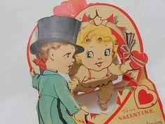 Vintage Valentine Antique Large Mechanical Pop Up Top Hot Tux 10 Inches | eBay