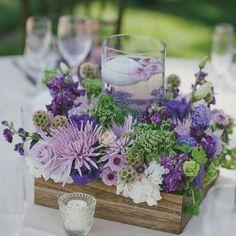 Purple Wedding Flowers Shades of Purple Centerpieces - Lilac Wedding, Purple Wedding Flowers, Wedding Colors, Wedding Bouquets, Purple Wedding Tables, Purple And Green Wedding, Lavender Weddings, Flower Bouquets, Wedding Cakes