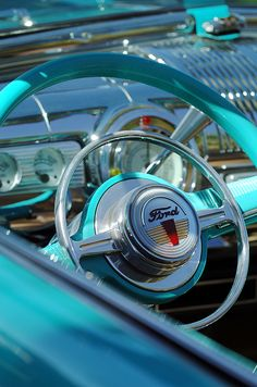 Ford Images by Jill Reger - Images of Fords - 1947 Ford Deluxe Convertible Steering Wheel